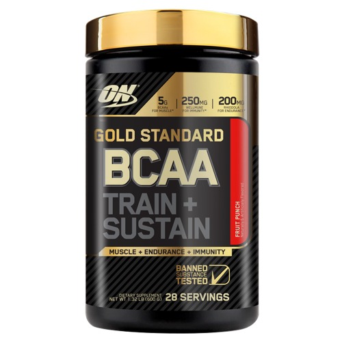 OPTIMUM NUTRITION GOLD STANDARD BCAA TRAIN + SUSTAIN 266.gr