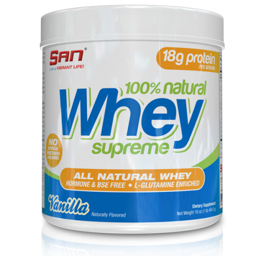 SAN 100% Natural Whey Supreme 454.gr