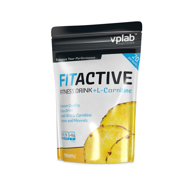 VPLab FitActive Fitness Drink c L-карнитином 500.г